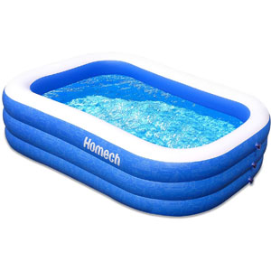 Homech Family Inflatable Swimming Pool 120 x 72 x 22 in