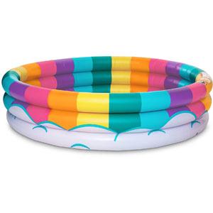 BigMouth Inc Inflatable Rainbow Kiddie Pool