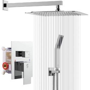 SR SUN RISE SRSH-F5043 10 Inches Wall Mount Bathroom Luxury Rain Mixer Shower