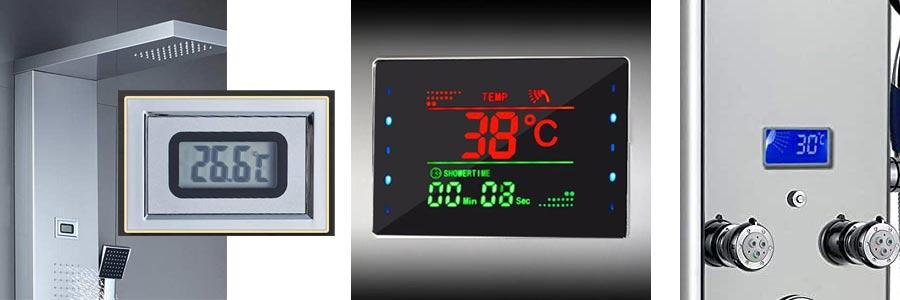 Temperature Control Shower panel