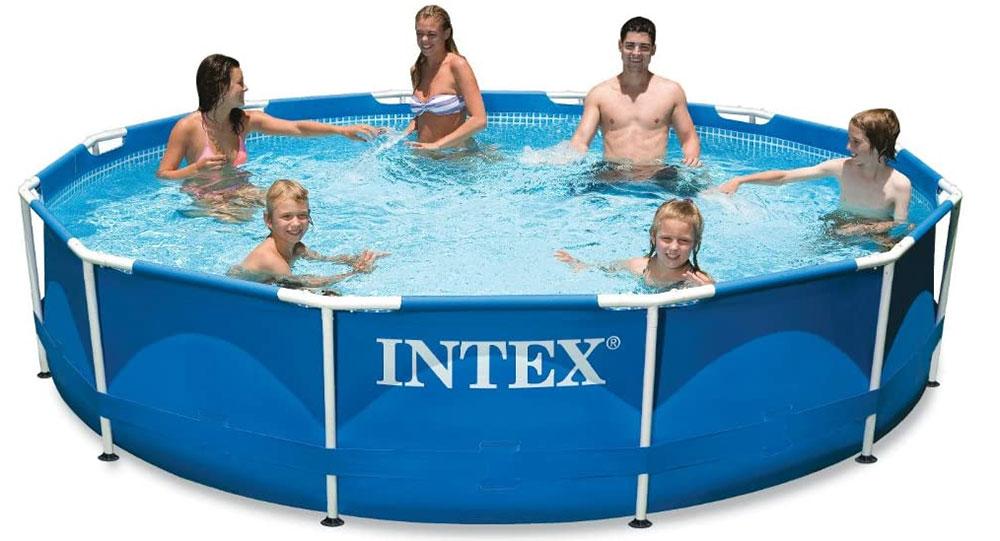 Intex FBA_28211EH 12 ft x 30 in Metal Frame Pool Set